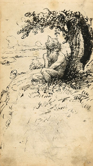 Куликов Афанасий Ефремович (1884–1949) «Леший». Начало ХХвека. Бумага, тушь, перо, 21,4x11,9см.