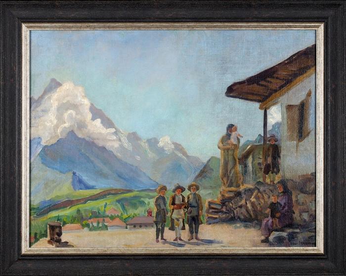 Лучишкин Сергей Алексеевич (1902–1989) «Вожидании хороших новостей». 1936. Холст, масло, 59,5x78см.