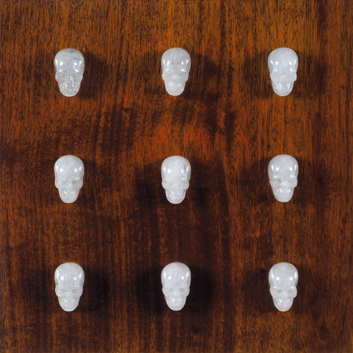 Жиляев Алексей (род.1981) «Нуар». 2015. Африканский махагони, кварц. 40x40x6см.