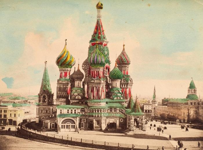 Фотография храма Василия Блаженного вМоскве. [M.: Ж.Б. Аванцо, 1900-e гг.].