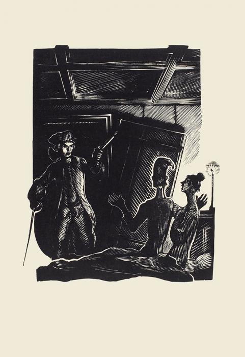 [Сдвумя гравюрами А.Гончарова] Смоллет, Т.Приключения Перигрина Пикля/ худ. А.Гончарова, пер. икомм. А.Кравцовой иЕ.Ланна. [В2т.] Т. 1-2. М.; Л.: Academia, 1934-1935.