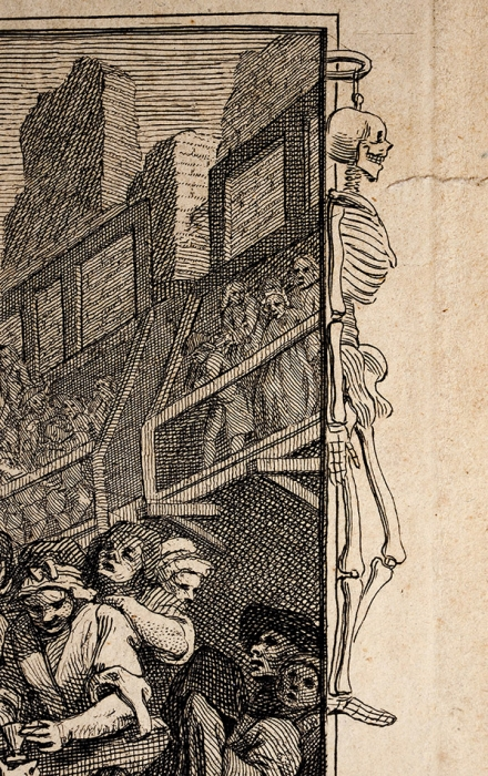 Хогарт Уильям (William Hogarth) (1697–1764) Лист №11изсерии «Прилежание иленость (Industry and Idleness)». 1747. Бумага, резец, 29x42,8см (лист), 27x40,3см (оттиск).
