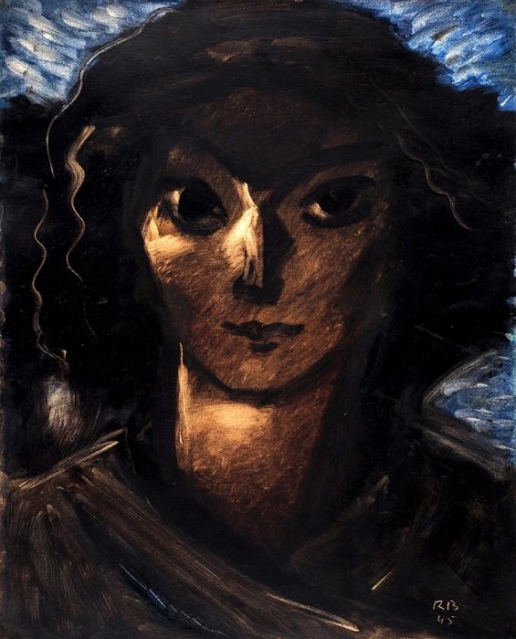 Барто Ростислав Николаевич (1902–1974) «Женский портрет». 1945. Бумага, масло, 51,5x41,6см.