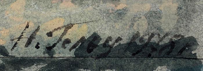 Гольц Ника Георгиевна (1925–2012) Изсерии «Путешествие поФранции». 1978. Бумага, смешанная техника, 50x32,5см.