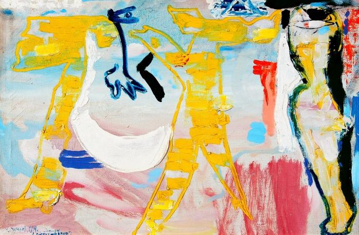Зубарев Владислав Константинович (1937–2013) «Сегодня будешь сомною вРаю». 1994. Холст, масло, 65x42см.