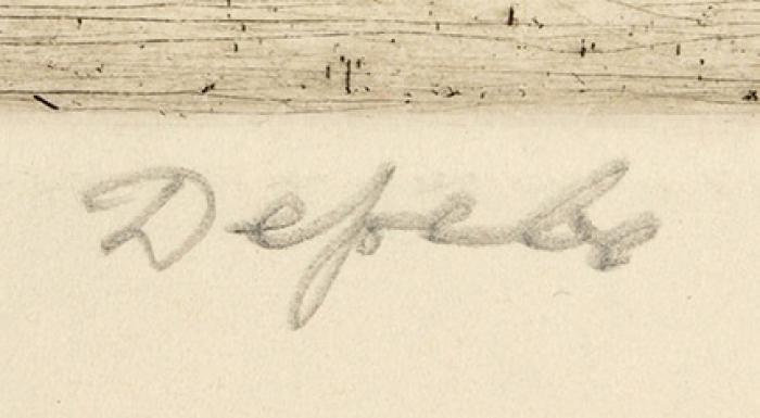 Измайлов Евгений Аскерович (род.1939) «Дерево». Конец ХХвека. Бумага, офорт, 49,5x64,5см (лист), 31,5x48,5см (оттиск).