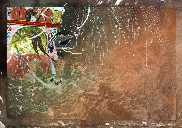 [Мастера книжной иллюстрации] Илларионова Надежда Владимировна (род.1985) Иллюстрация ксказке Г.Х. Андерсена «Русалочка». 2011. Бумага, смешанная техника, 37,3x52,6см.