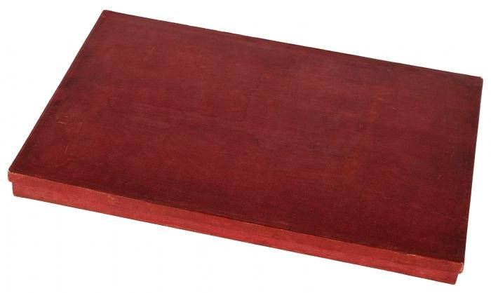 Роскошная подносная папка садресом адмиралу Жерве отгородского головыг. Кронштадта. Кронштадт, 12августа 1897г.