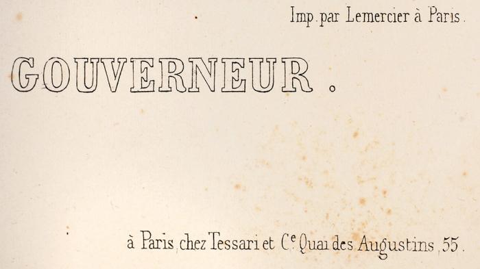 Арну Жан Батист (Jean Baptiste Arnout) (1788–1865) «Вид дома военного генерал-губернатора». Изд. Дж. Дациаро. 1840-е. Бумага, литография, 39,3x55,8см (лист).