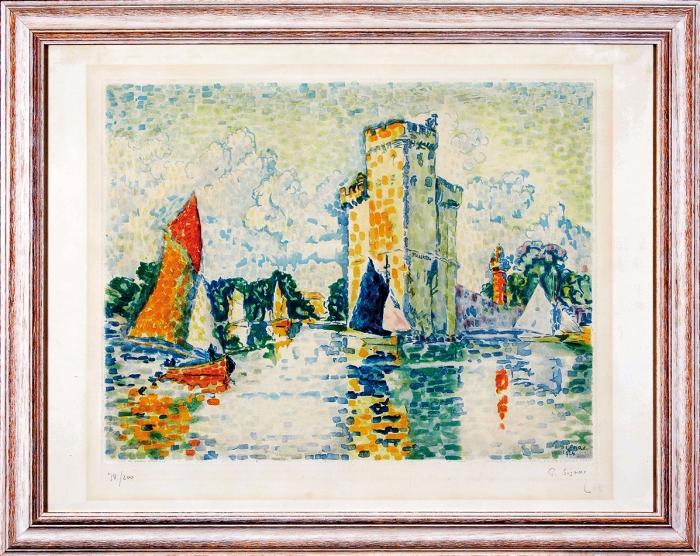 Синьяк Поль (Paul Signac) (1863–1935) «ЛяРошель». 1925. Бумага, цветная автолитография, 56x73,5см (всвету).