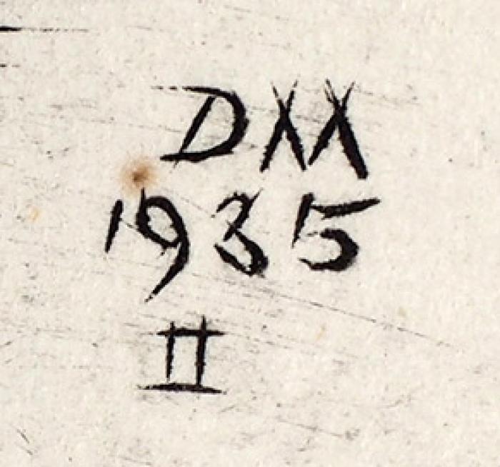 Митрохин Дмитрий Исидорович (1883–1973) «Улица». 1935. Бумага, офорт, 22x29см.