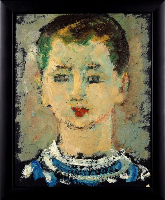 """Соссак Жан (Jean Saussac) (1922–2005) """"Будущее (L'avenir)"""".1957. Бумага нахолсте, масло, 30x24см."""