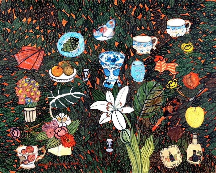 Воронова Люся (Людмила Владимировна) (род.1953) «Натюрморт слилией». 2012. Холст, масло, 80x100см.