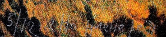 Дубосарский Владимир, Виноградов Александр. Напленэре. Картина для школы.1994. Бумага, цветная шелкография. 68x56,3см. Экземпляр №5из12с подписью художников.