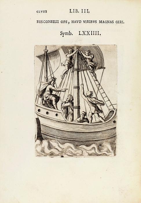 [Редчайшая эмблемата Ренессанса] Бокки, Ахилл. Символы иэмблематы/ грав. Дж. Бонасоне. [Symbolicarum quaestionum deuniverso genere quas serio ludebat. Edité par Apud Societatem Typographiae Bononiensis. Налатыни]. Болонья, 1574.