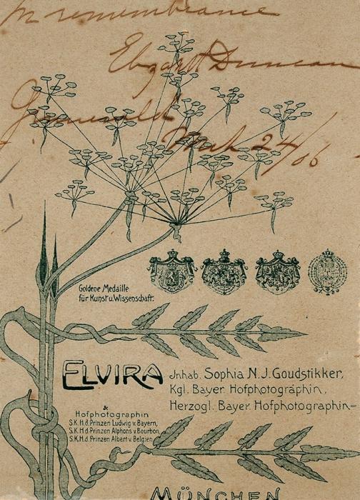 Фотография Айседоры Дункан, савтографом/ фот. Elvira.1906.