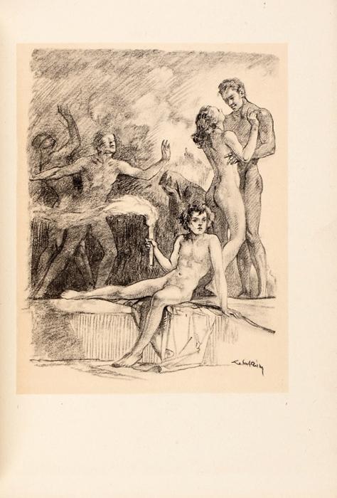 [Горизонты страсти ипорока] Роллен, Л. [автограф] Горизонты/ ил. А.Лобель-Риш. [Нафр.яз.] Париж: Editions duMoustie, 1945.
