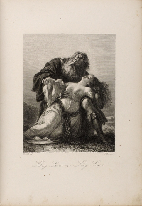 [35гравюр] Галерея Шекспира. Персонажи исцены изшекспировых драм. [Shakespeare-Galerie. Charaktere und scenen aus Shakespeare's dramen. Нанем.яз.] Лейпциг, 1876.