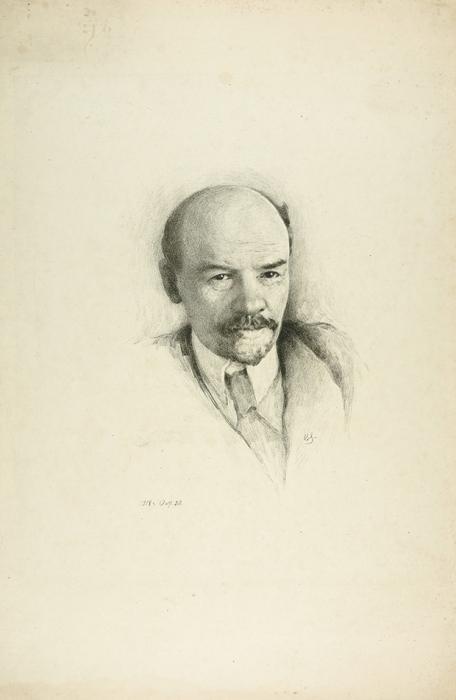 Соколов Владимир Иванович (1872–1946). «В.И. Ленин». 1918. Бумага, литография. 42x28см.
