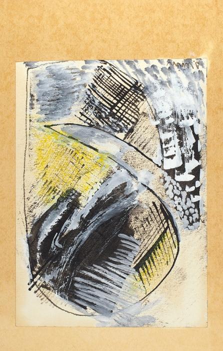 Художник Иосиф Левин: 3рисунка, собственноручное письмо, 2программки выставок (савтографами), машинопись статьи (справками), 3пригласительных навыставки. [1940-1960-е гг.].