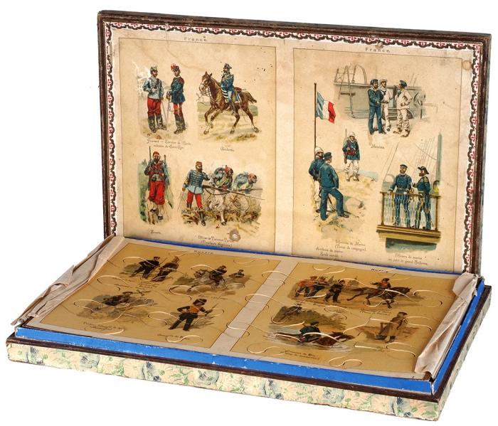Детская игра-пазл «Русские ифранцузские войска». Франция, середина, вторая половина XIXвека.