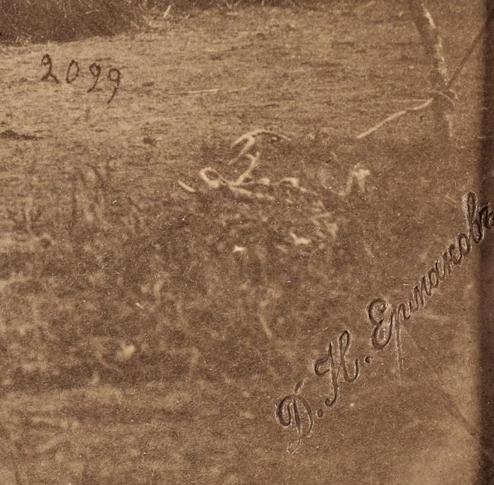 Фотография «Цихис-Дзири. Бивуак 6-сотни 2-го Ейского конного полка»/ фотоателье Д.И. Ермакова. [Цихисдзири, 1880-1890-е гг.].