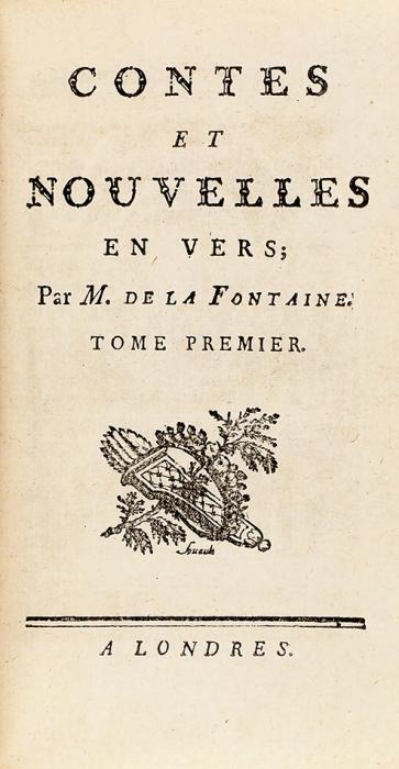 [Контрафактное издание соткровенными гравюрами] Лафонтен. Сказки ирассказы встихах. [Contes etnouvelles envers. Нафр.яз.] Лондон; [Париж, 1770].