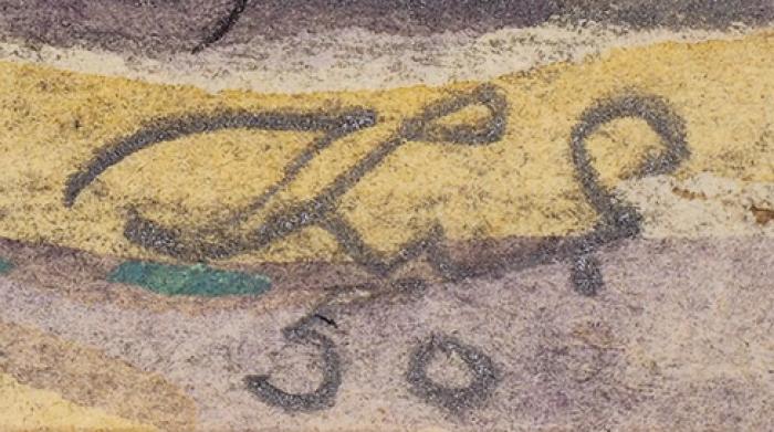 Елисеев Константин Степанович (1890–1968) «Работники отдела благоустройства напрогулке». Иллюстрация для журнала «Крокодил». 1950. Бумага, графитный карандаш, тушь, перо, акварель, белила, 28,5x47см.