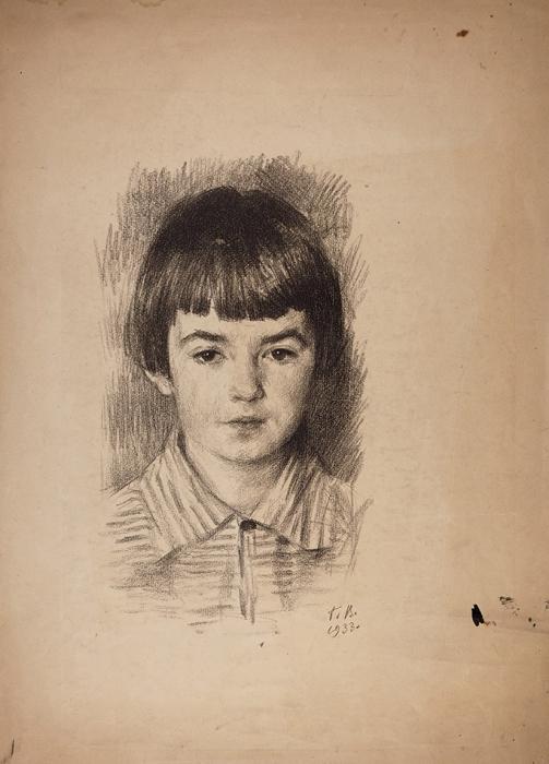 Верейский Георгий Семенович (1886–1962) «Портрет девочки». 1933. Бумага, литография, 51x35,5см (лист).