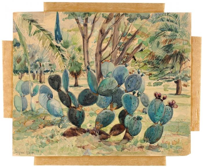 Бродская Лидия Исааковна (1910–1991) «Сухуми». 1939. Бумага, акварель, 22,8x28см.