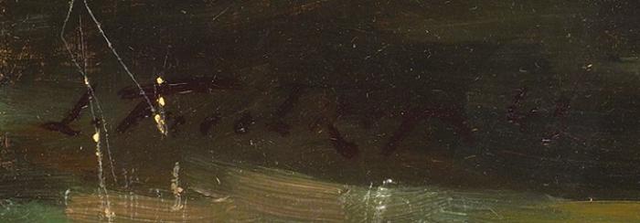 Фречкоп (Фрешкоп) Леонид Исаакович (1897–1982) «Натюрморт». 1943. Оргалит, масло, 48,3x39,3см.