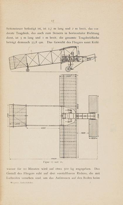 Дальвитц, В.Р. Справочная книга для строителей аэропланов идирижаблей. [Hilfsbuch fur den Luftschiff-und Flugmaschinenbau.../ Dr. R.Wegner von Dallwitz. Нанем.яз.] Росток: Volckmann Nachfolger, 1909.