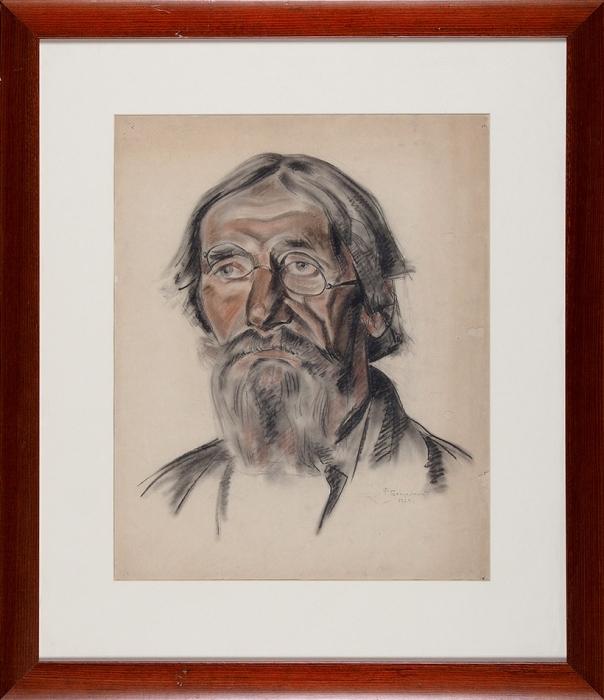 Богородский Фёдор Семёнович (1895–1959) «Старик». 1924. Бумага, уголь, сангина, 45x36см (всвету).