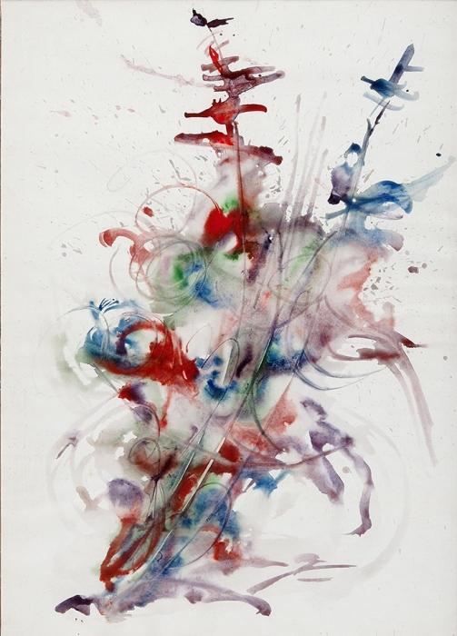 [Собрание Ю.Г. Епатко] Зверев Анатолий Тимофеевич (1931–1986) «Цветы». 1980-е. Бумага, акварель, 59x41см.