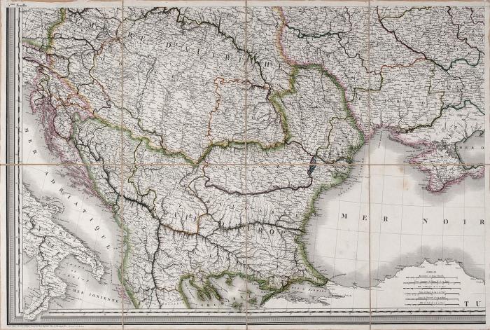 [167x170] Карта европейской части России. [Carte delaRussie d'Europe, avec L'Empire D'Autriche. Нафр.яз.]. Париж: P.A.F. Tardieu, 1812.