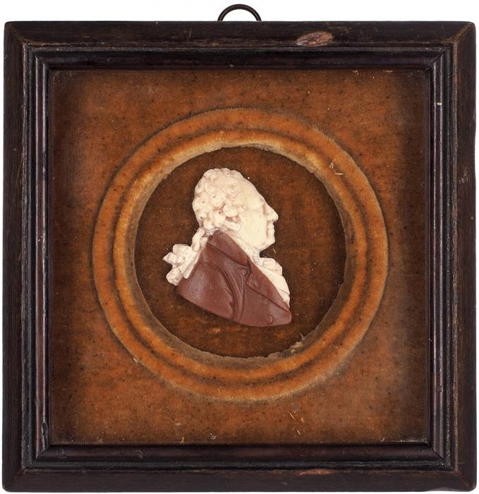 Барельеф «Князь А.Б. Куракин». Автор Ф.П. Толстой (?). 1800-е. Цветной воск. Размер рамки 16,5x16,5см.