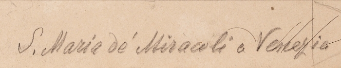 Клагес Федор Андреевич (1812 (1814)— 1890 (1900)) «Церковь Санта-Мария-деи-Мираколи вВенеции». Вторая четверть XIXвека. Бумага, графитный карандаш, 22,2x31,5см.