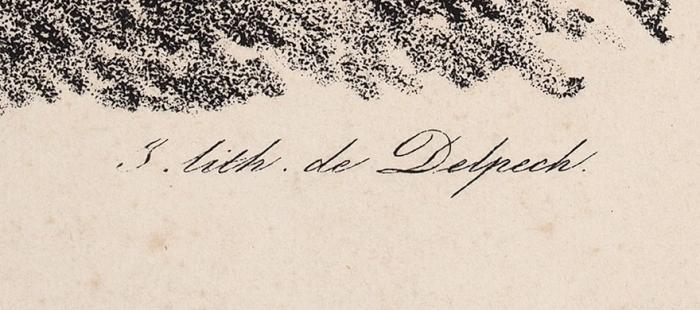 Delpech пооригиналу Верне Карла Антуана Шарля Ораса (Carle Vernet) (1758–1835) «Скакуны». Середина XIXвека. Бумага накартоне, литография, 37,3x49,3см.