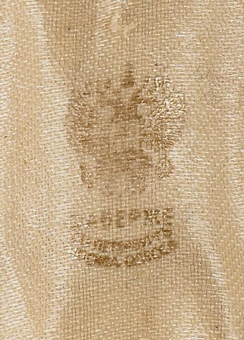 Яйцо пасхальное свензелем под короной. Россия, Санкт-Петербург. Конец XIXвека. Золото; нефрит. Высота3,8см.