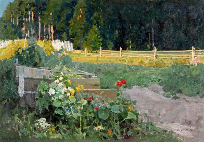 Соколов Владимир Иванович (1872–1946) «Летний дворик». 1910-е— 1920-е. Холст, масло, 57x82,2см.