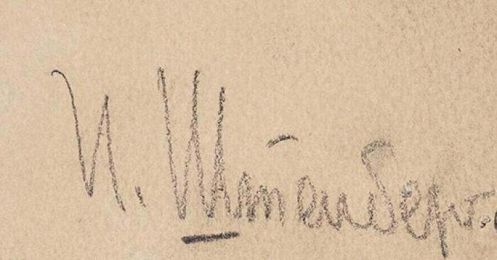 Штенберг Ирина Валерьяновна (1905–1985) Иллюстрация для журнала «Рост» крассказу М.Завьялова «Первая ударная». 1930. Бумага, тушь, перо, кисть, 26,5x17,5см.