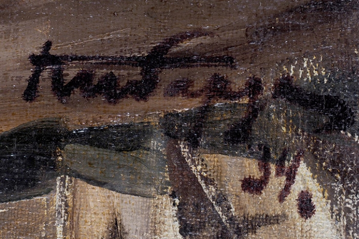 Кибардин Георгий Владимирович (1903–1963) «Строительство метро». 1934. Холст, масло, 54x45,5см.