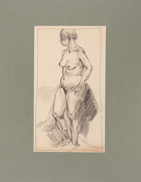 Истомин Константин Николаевич (1887–1942) «Натурщица». 1930-е. Бумага, графитный карандаш, 34x19см (всвету).