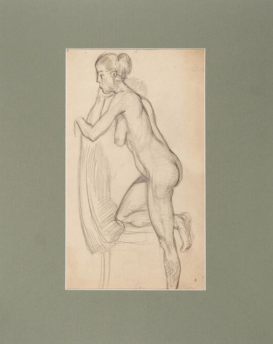 Истомин Константин Николаевич (1887–1942) «Натурщица». 1930-е. Бумага, графитный карандаш, 34,5x20см (всвету).