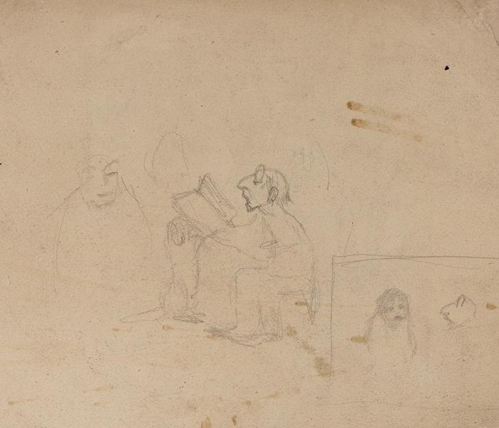 Милорадович Людмила Ивановна (1900–1981) «Девочка илев». 1950-е— 1960-е. Бумага, графитный карандаш, акварель, 18x20,7см.