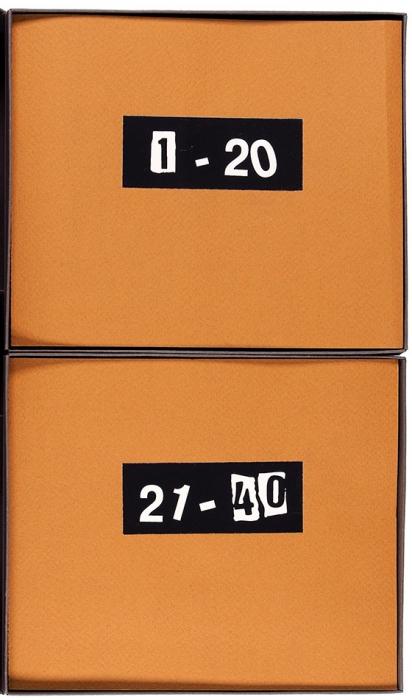 Бахчанян Вагрич Акопович (1938–2009) «40коллатипий». Два альбома впапке-футляре.2005. Размер 28x20x1,8см.