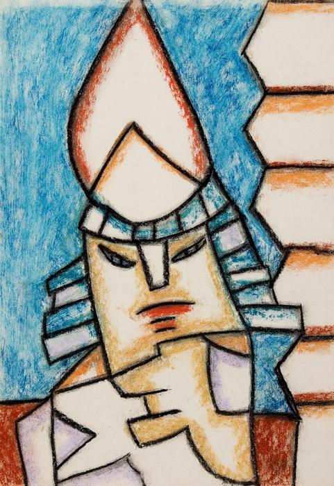 Кошелохов Борис Николаевич (Боб) (род.1942) «Портрет». 2000-е. Бумага, пастель, 42,5x29,5см.