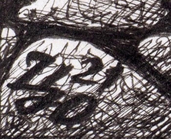 Царевский Юрий Витальевич (род.1968) «Генератор времени». 2021. Бумага, линеры, 54x40см.
